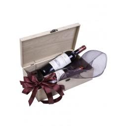 Poklon pakovanje - Kovčeg za 2 boce (Hrast)